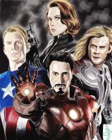 the avengers finished !! by slimsassysarah