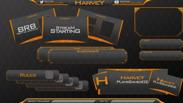 Harvey 's Streaming Set 01 by MzDemented