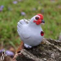 Lavender Pekin Bantam (Comm) by The-Wandering-Bird