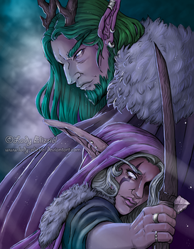 Thaelin And Delilah: WoW Fanart by Lady-Elizriel