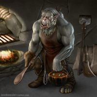 Orc Cook by JoshBurns