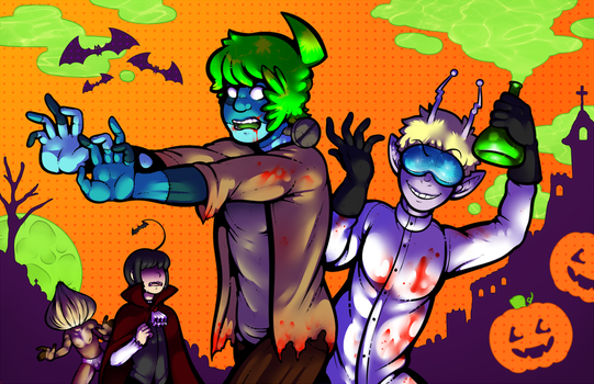 Space School Halloween 2014 by DarkChibiShadow