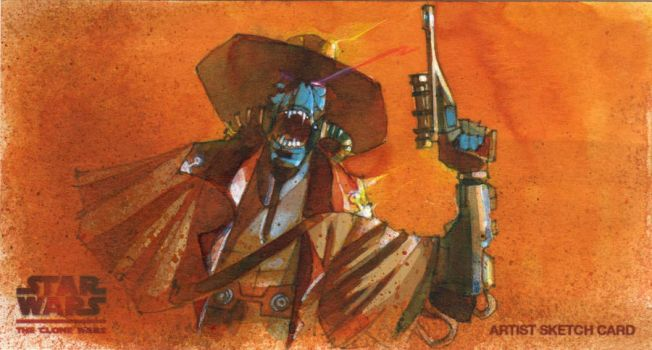 Cad Bane Fury by markmchaley
