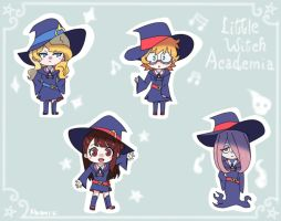 Little Witch Academia ~ Sticker Set by Shiemi-Hime