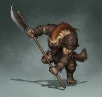 Gnoll illustration for Tellest by PRDart