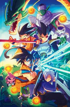 Dragon Ball Z Ruffy by RobDuenas