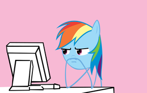 Rainbow Dash Reaction Face by Orschmann