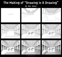 Making of Drawing in a Drawing by BenHeine