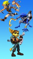 Ratchet Jak and Sly Wallpaper 2 Iphone by Ratchetfan2006