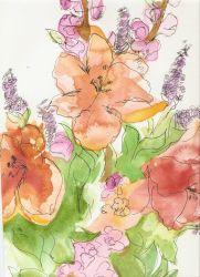 Water Color Flowers by kmm522