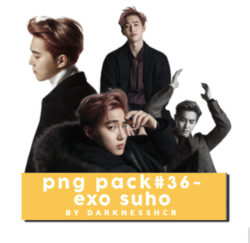 PNG Pack#36 - Suho by darknesshcr