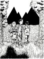 TWIN PEAKS 6 - Margaret Carl and Alan Missing Inks by KurtBelcher1