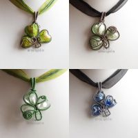 Shamrock pendants by ukapala