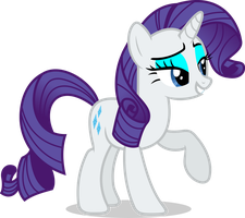 Mlp Fim rarity (oh darling) vector by luckreza8