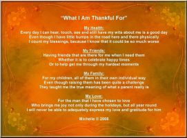 What I Am Thankful For by VisualPoetress