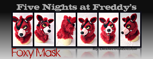 Five Nights at Freddy's Foxy Mask For Sale - SOLD by DexterousZombie