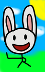 Happy Bunny by DJFLuFFy-vs-joe