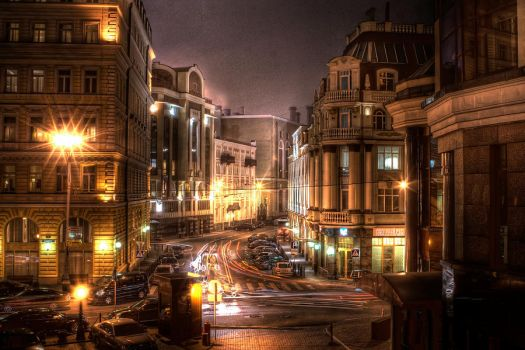 moscow at night. balchug. by moitisse