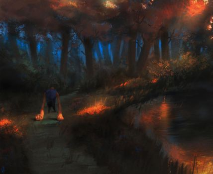 Sad walk by MonkeyMan-ArtWork