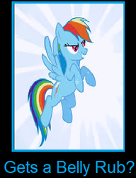 What if G4 Rainbow Dash gets a belly rub by arvinsharifzadeh