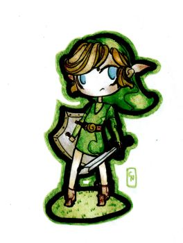 Chibi Link-COMMISSION by Nenril-Tf
