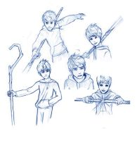 Jack Frost Art Ask Blog Sketches by TheLeapofFaith