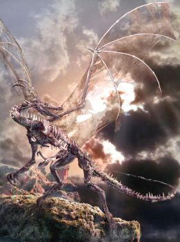 Dragon summoned from Hell by Ahyicodae