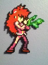 Perler bead project- Kurama by Mizu-Neko29