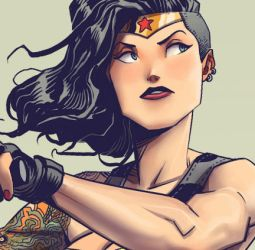 Wonder-Woman-Illustration-side shave by longhairedguy1234