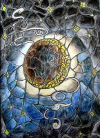 Stained glass moon by InKibus