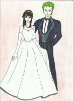 Just Married Zoro and Robin by zlizroswell