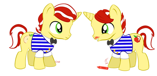 Flim, Flam and a Crayon by TravelingSalespony
