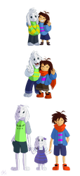 Undertale - Dreemurr Sibling squad by TC-96