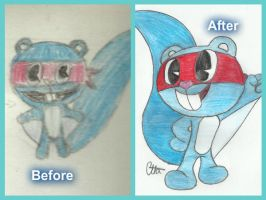 Before and after Splendid by Ctlna0199