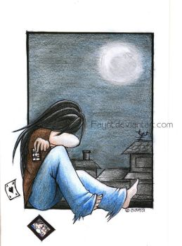 : Alone by the Moon : by F-AYN-T