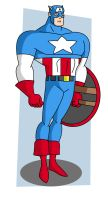 Captain America - Bruce Timm style by warthogrampage