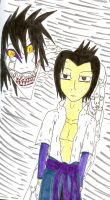 Sasuke and Snakey Orochimaru by QweXTheXEccentric
