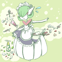 Mega Gardevoir Maid by Juni212