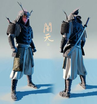 Yamiten - 3D concept - full body by Hideyoshi