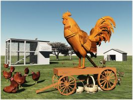 The Trojan Rooster... by plumita1