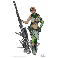 Antitank Girl by JazzLizard