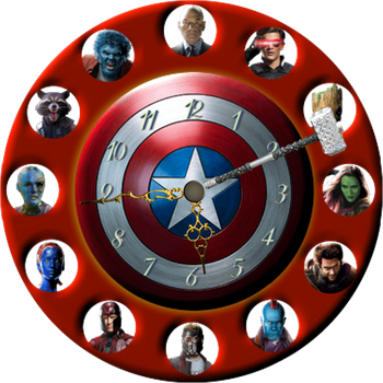 Marvel Heroes Clock for Xwidget by DaveBreck