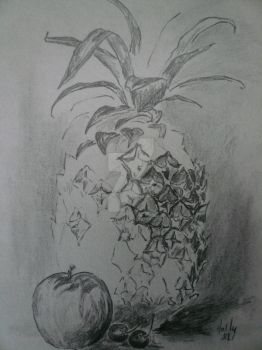 Pineapple Study by HollyWillis