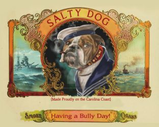 Salty Dog Cigars by CrookedCrowStudio