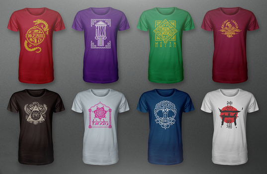 New SMITE Pantheon Shirts by tomtomss