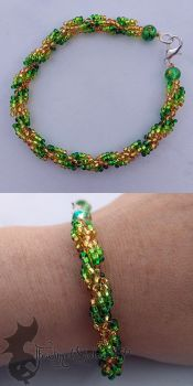 Summer Spiral Bracelet by TheWingedShadow