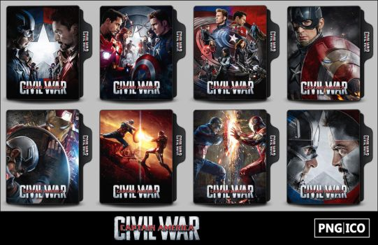Captain America - Civil War (2016) Folder Icons by OnlyStyleMatters