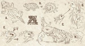 Horny toads sketch by Viergacht