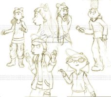 Hey Arnold sketches by genaminna