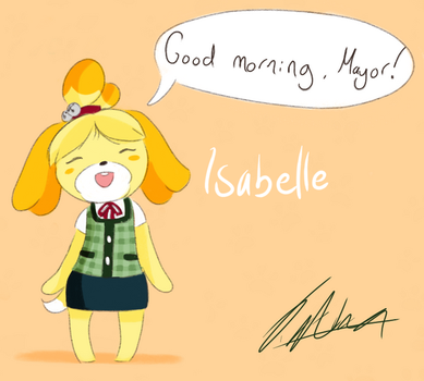 Animal Crossing: Isabelle by MarineTheRaccoonHere